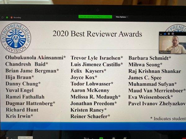 Best Reviewer AOM 2020